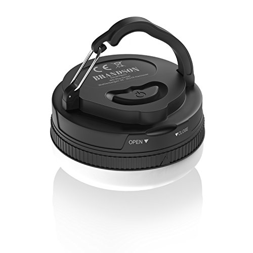 Preisvergleich Produktbild Brandson - LED Campinglampe inkl. Magnethalterung - Mini Camping-Leuchte - Zelt-Laterne Licht - 5 Modi - 1x SMD - 3, 5W - inkl. Tragegriff - batteriebetrieben - energieeffizient - Tragbar