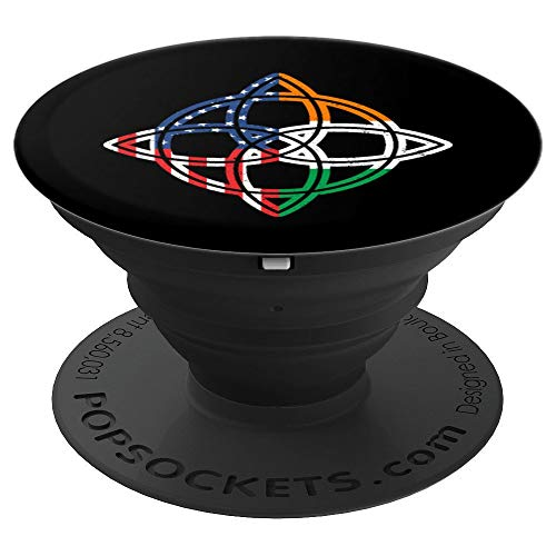 Irish American Flag Ireland Celtic Knot Compass Rose PopSockets Grip and Stand for Phones and Tablets