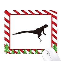 ブラックlizad動物の描写 ゴムクリスマスキャンディマウスパッド