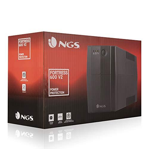 NGS FORTRESS600V2 - Sistema de alimentación ininterrumpida (400 VA ...