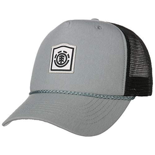 Element Wolfeboro Trucker Cap Truckercap Meshcap Basecap Baseballcap Curved Brim Snapback (One Size - hellgrau)