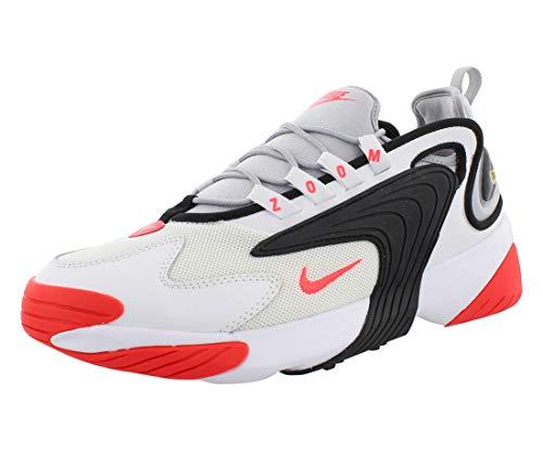 Nike Herren Zoom 2K Leichtathletikschuhe, Mehrfarbig (White/Infrared 23/Wolf Grey/Black 000), 46 EU