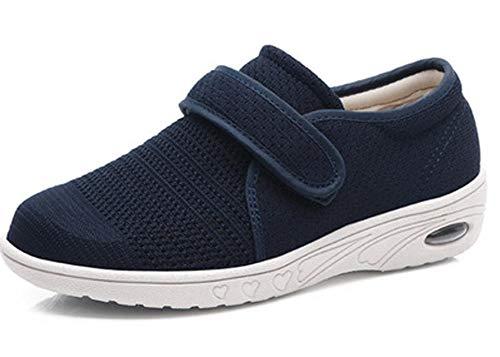DYWLQ Zapatos para caminar para mujeres, zapatos ortopédicos para mujeres, calzado para fascitis plantar, zapatillas de malla con aire, calzado ortopédico para pies hinchados-02_42