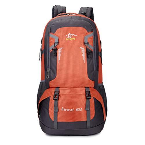 HWZZ 60L Wasserdichter Outdoor-Reiserucksack Camping Trekkingtasche Für Mann Frau Klettern Wanderrucksack Angeln Radsport Rucksack,E