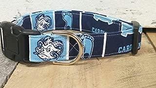 North Carolina Tar Heels dog collar buckle or martingale with leash set option