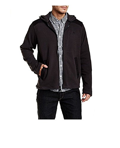 Timberland Men's Bellamy River Mixed Hooded Jacket (X-Large, Dark Charcoal)