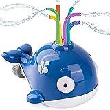 Agltp Kids Sprinkler Water Toy, Cute Splash Whale Spinning Sprayer ,Water Toys Splash Whale Spray Toy for Swimming Pool Garden Lawn Outdoor Play