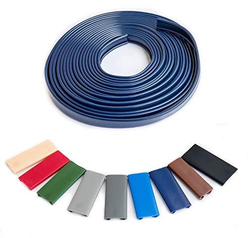 1m PVC Handlauf Treppenhandlauf Kunststoffhandlauf Profil Geländer 40x8mm Farben wählbar (Schwarz)