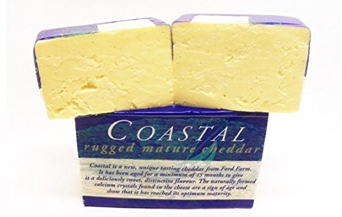 Coastal Rugged Mature Cheddar Cheese from England - Sold by the pound