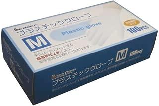 リーダー プラスチックグローブ Mサイズ 100枚入