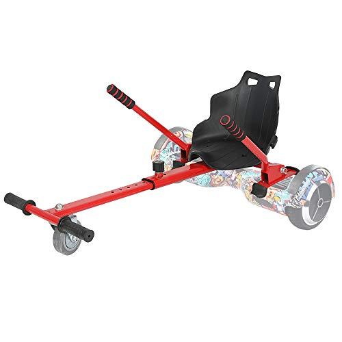 """TGHY Accesorio de Asiento Hoverkart para Hoverboard Convierte Su Hoverboard en un Kart Correa y Marco Ajustables Apto para Hoverboard de 6.5"""" 8.0"""" y 10"""" Niños,Rojo"""