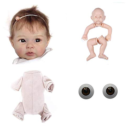 Zero Pam Reborn Doll Kit Accessories Supplies Realistic Baby Dolls Life Like Reborn Toddler Dolls Parts for 20 inch Make Reborn Baby Dolls
