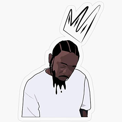 Lplpol 3 Stück Premium Anti-Staub Vinyl Aufkleber/Aufkleber Kendrick Lamar Aufkleber Vinyl Aufkleber Auto Laptop Aufkleber Wasserflasche Aufkleber 4 Zoll