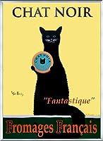 ポスター ケン ベイリー Chat Noir 額装品 アルミ製ベーシックフレーム(シルバー)