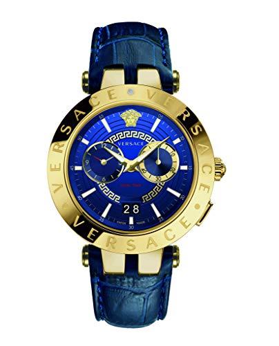 Versace Reloj Analógico para Hombre de Cuarzo con Correa en Cuero VEBV002 19