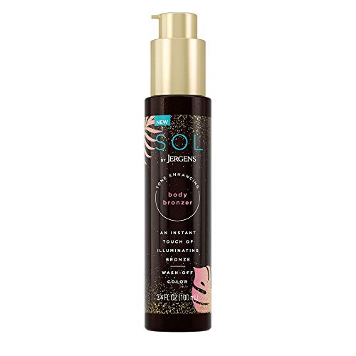 SOL by Jergens Self Tanner Body Bronzer, For All Unique Skin Tones, Sunless Tanning, 3.4 Ounce,...