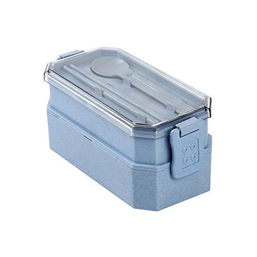 Foshuo Pranzo Portatile Creativo,Borsa Pranzo Riutilizzabile isolata Lunch Boxes Lunch Lunch Isolato termicamente Bento Picnic Storage Barattolo per Alimenti in Latta Lunch Box Leak PRO