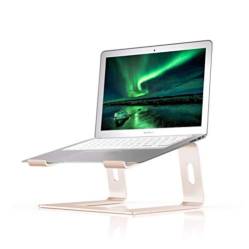 BoYata Laptop Stand: Dismountable with Ventilation, Portable Notebook Stand Compatible with Laptop (10 inch ~ 15.9 inch) MacBook Pro/Air, HP, Dell, Lenovo, Samsung, Acer, HUAWEI MateBook -Gold