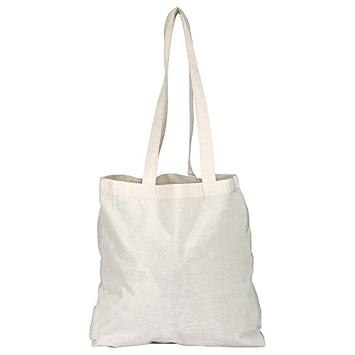 eBuyGB Cotton Shopper canvas en strandtas, 42 cm, beige