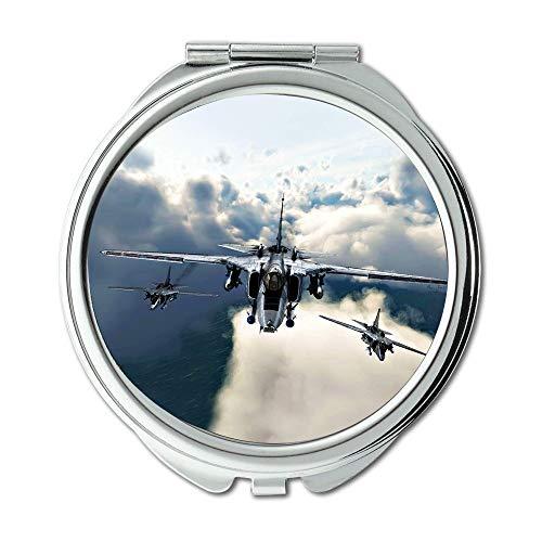 Kampfjets, Spiegel, Compact Mirror, amerikanische Kämpferhemden für Männer, Taschenspiegel, tragbarer Spiegel