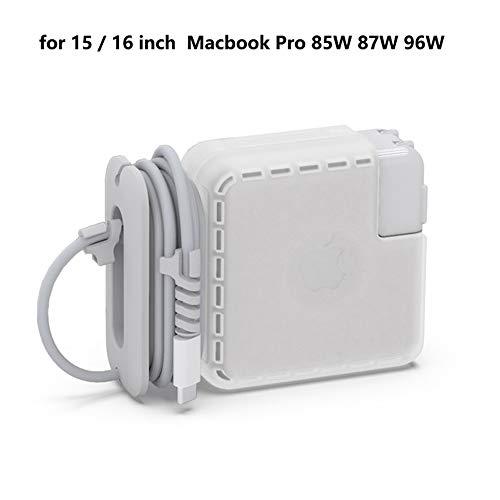 lshc Caja de Almacenamiento del Adaptador de Corriente, Estuche Protector del Cargador, Organizador de Cable de Viaje Compatible con el Cargador Apple Macbook (15-16 in)
