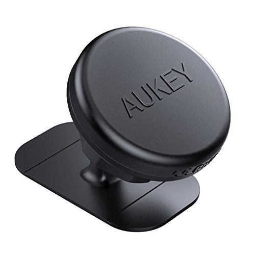AUKEY Supporto Smartphone Auto Magnetico Adesivo su Cruscotto Porta Cellulare Auto Universale per iPhone 7/7 Plus / 6 / 6s, Samsung Note 8 / S8, Android, Windows e Molti Altri