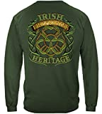 Firefighter Long Sleeve T-Shirts, 100% Cotton Casual Mens Shirts, Show Your Pride with Our Irish Firefighter Long Sleeve Shirts for Men or Women (X-Large) Forest Green