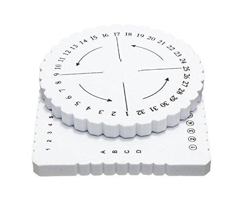 SODIAL 2 piezas de Disco cuadrado redondo Macrame Trenzado Cordon Pulsera de Cuerda Tejido Hecho A Mano Placa de Disco de Materiales de BRICOLAJE Herramientas de Costura