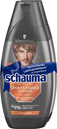 SCHWARZKOPF SCHAUMA Shampoo 2er Sports Power, 1er Pack (1 x 800 ml)