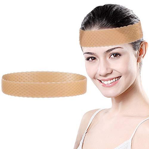 Banda de silicona para el pelo, bandas antideslizantes para pelucas, diadema elástica ajustable para pelucas (marrón claro)