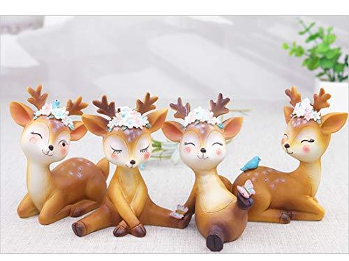 YuanBo Wu Casa de joyería Decoraciones de pequeña Oficina Fresco Lindo Ciervo Sika hogar de la Resina decoración Enviar Novia Creativa niña Regalo de cumpleaños (Style : Elegant)