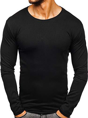 BOLF Herren Longsleeve Langarmshirt Sweatshirt Pullover J.Style 2088L Schwarz L [1A1]