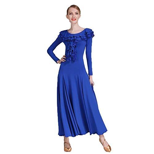 Vrouwen gezelschapspleet jurk met lange mouwen kanten kraag jurk, gezelschap pal rok kostuum