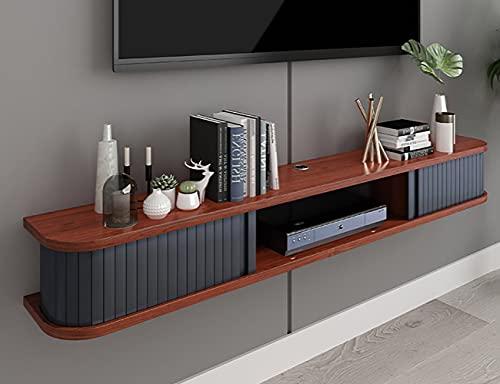 Consola Multimedia Montada,Mueble TVStand para Montar en la Pared, Ahorra Espacio, Unidad de Entretenimiento Flotante para Sala de Estar Y Dormitorio/A / 120cm