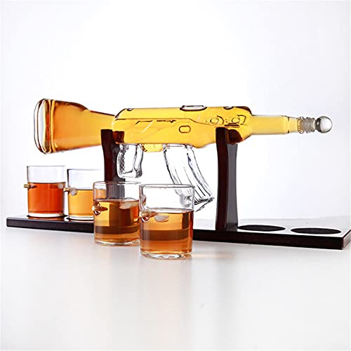 GYN Decantador Whisky Creatividad,Botella de Vidrio Transparente Reutilizable,Decantadores para Decoración y Grandes Regalos