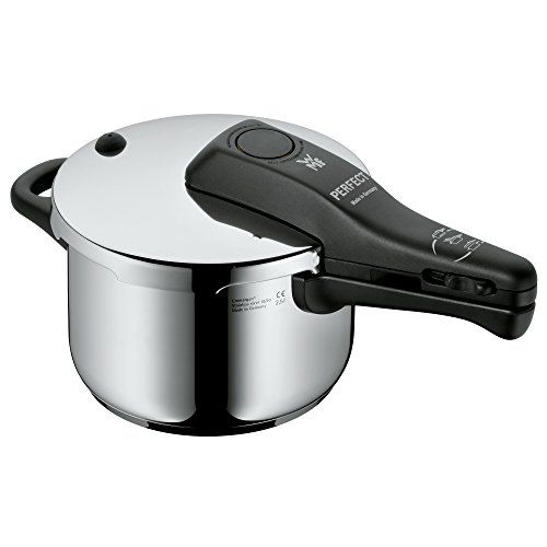 WMF Perfect Schnellkochtopf Induktion 2,5l, Dampfkochtopf mit Einsatz, Cromargan Edelstahl poliert, 2 Kochstufen, Einhand-Kochstufenregler