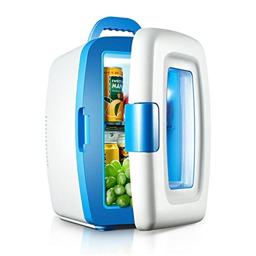 LUWEI 10L Mini Coche Frigorífico Travel Congelador Camping Camping Driving Frigerador pequeño, para Dormitorio/Oficina/Dormitorio/Coche,Azul