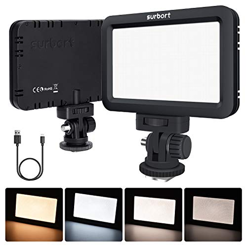 LED Luz de Vídeo, ANGGO LED Cámara Lámpara de Vídeo Temperatura de...