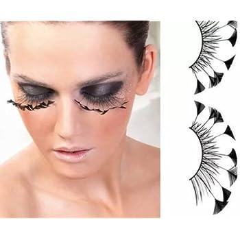 Amazon Com Dorisue Halloween Eyelashes Yzma Eyelashes Dsiney Spider Eyelashes Yfirework Feather Eyelashes Custom Cosplay Dramatic Extra Long Lashes For Partyz Beauty