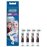 Oral-B Kids Disney Frozen Aufsteckbürsten, für Kinder ab 3 Jahren, 4 Stück (Produkt kann von Abbildung abweichen) -