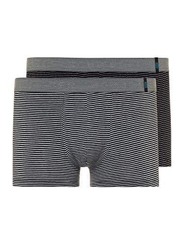 Schiesser Herren 95/5 Short Boxershorts, Mehrfarbig (grau gestreift), XL