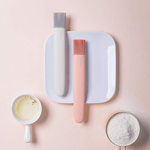 Ordertown Nordische Moderne Art-Backen-Werkzeug-Ölbürste, Abnehmbarer Silikon-Brot-Grill-Ölbürste BBQ-Backen-Werkzeug-Küchen-Backformen Grau weiß