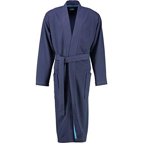 LAGO Bademantel Herren Kimono 816 Marine - 14 M