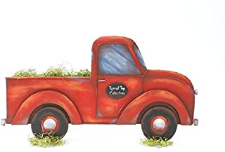 The Round Top Collection Pick Up Truck Lg - Red - Metal