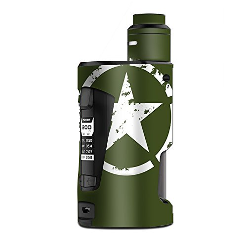 Skin Decal Vinyl Wrap for Geekvape GBox Squonk Kit 200W Vape Kit skins stickers cover / Green Army Star Military