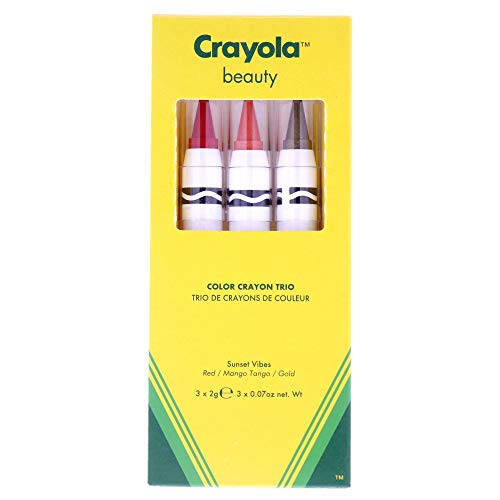 Crayola Beauty - Lip & Cheek Crayon Trio - 2 in 1, Use as Lipstick or...
