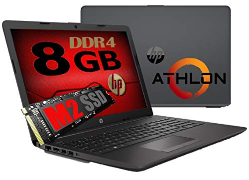Notebook Pc Portatile HP 255 G7 Display 15.6   New Cpu Amd Athlon 3020e 2,6ghz  Ram 8Gb ddr4  SSD M2 256GB  Vga Radeon R3   Hdmi   Masterizzatore Wifi Bluetooth  Licenza Windows 10 pro + Open Office