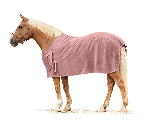 Lill's Pink Berry - Manta para sudar (100% algodón orgánico, diseño de caballos, sostenible (S, 140 cm de largo)