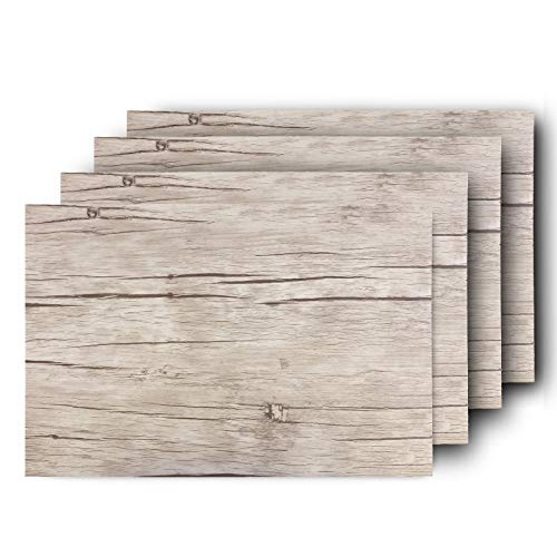 Westmark 4 Tischsets/Platzdeckchen, 45 x 30 cm, Synthetik, Holzoptik, Saleen-Edition: Nature, Eiche hell, 01059810150