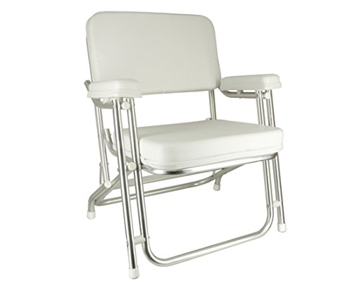 Wise Folding Deck Chair with Aluminum Frame